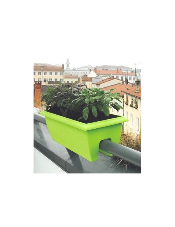 Jardinière balcon evolution rouge riviera