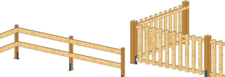 terrasse et cloture achat vente de barri res en bois. Black Bedroom Furniture Sets. Home Design Ideas