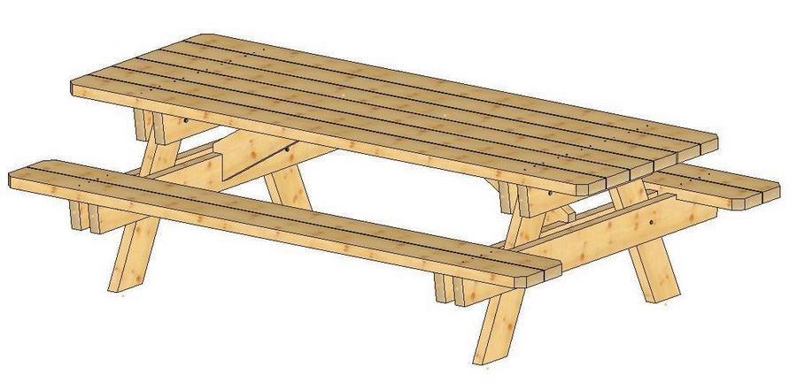 Table de jardin en bois Bois-Kit